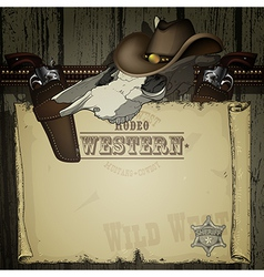 Advertisement rodeo western vector