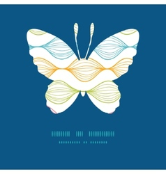 Colorful horizontal ogee butterfly vector