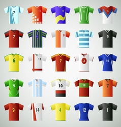 Soccer jersey t shirt set vector