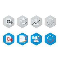 Set document icon vector