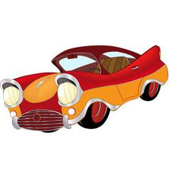 A red toy car cartoon vector