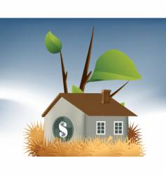 Home loan nest vector