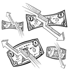 Doodle money inflation vector