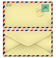 Old postal envelope vector