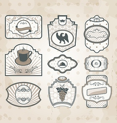 Set of vintage ornate labels vector
