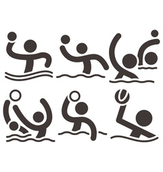 Water polo icons vector