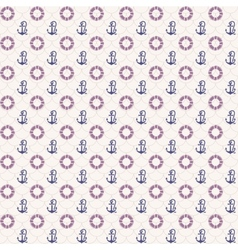 Seamless patterns anchors and lifebuoy vector