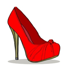 Womens seductive shoes vector