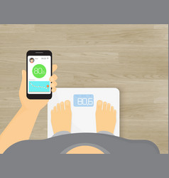Smart scales mobile app vector