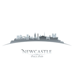 Newcastle england city skyline silhouette vector