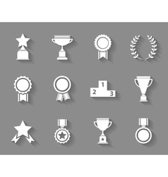 Set of award success and victory icons vector