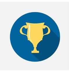 Golden cup icon vector