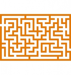 Orange labyrinth vector