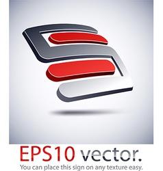 3d s modern logo icon vector