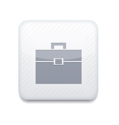 White briefcase icon eps10 easy to edit vector
