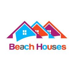 Happy houses vector