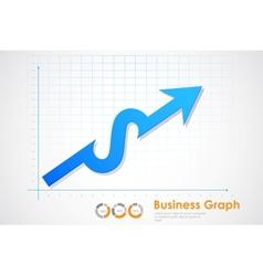Business profit graph vector