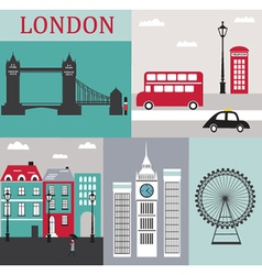 Symbols of london vector