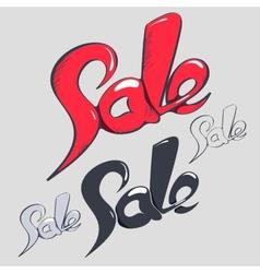 Sale headlines hand lettering vector