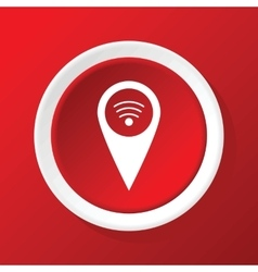 Wi-fi pointer icon on red vector