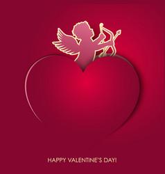 Angel valentines day vector