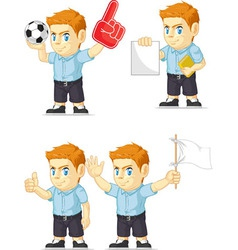 Red head boy customizable mascot vector