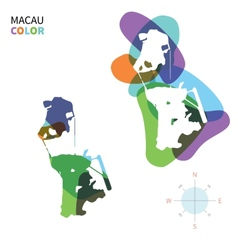 Abstract color map of macau vector