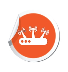 Router orange label vector