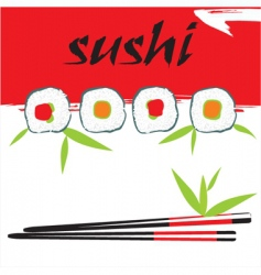 Sushi background vector