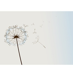 Flower in the wind vector