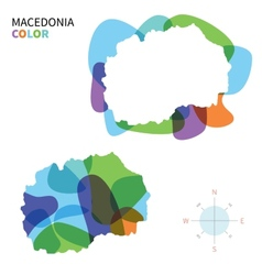 Abstract color map of macedonia vector