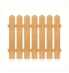 Wooden fence tile vector