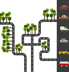 City roads vector