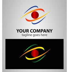 Abstract eye future vision logo vector