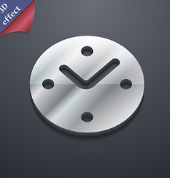 Mechanical clock icon symbol 3d style trendy vector