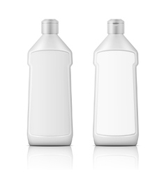 White plastic bottle for bleach with label vector