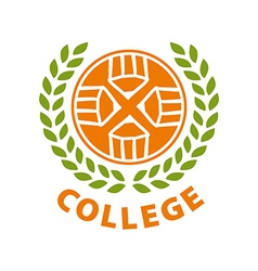 Round abstract logo for college vector