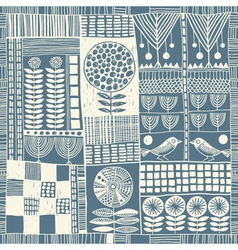 Seamless pattern patchwork vector