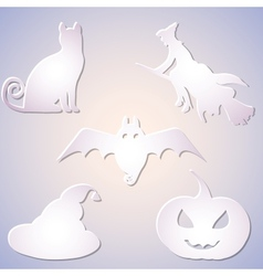 Shadowed symbol set for halloween vector