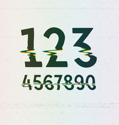 Cmyk print distortion digits vector