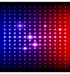 Red blue and purple shining disco equalizer lights vector