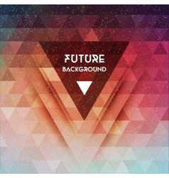 Abstract triangle future background vector
