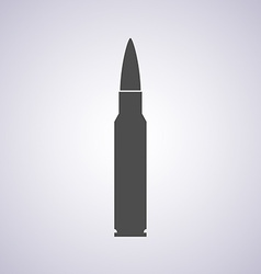Rifle bullet icon isolated on white background - vector