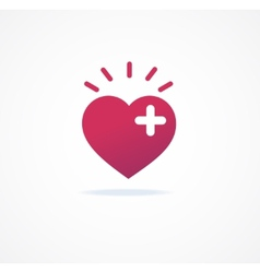 Love signs heart or add icon vector