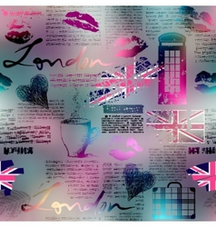 The collage in london style vector