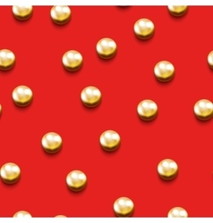 Seamless pattern with golden beads vector