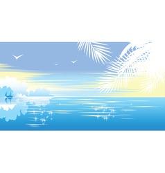 Tropical seascape vector