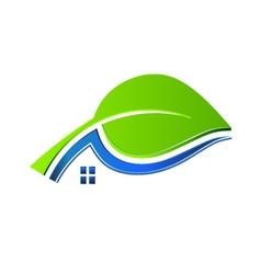 Ecology house logo vector