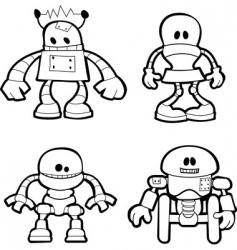 Little robots vector
