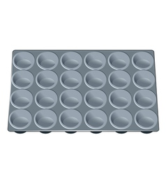 Muffin tray vector